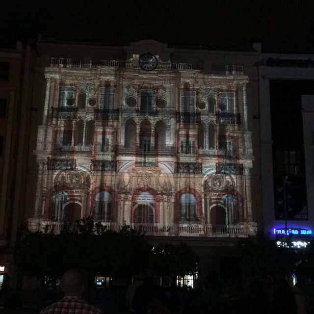 Video Mapping ADN Málaga